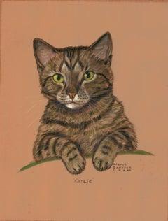 """""""Katzie"""" Cat Pastel, ca. 1940"""
