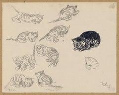 Sketch of Kittens, 1919