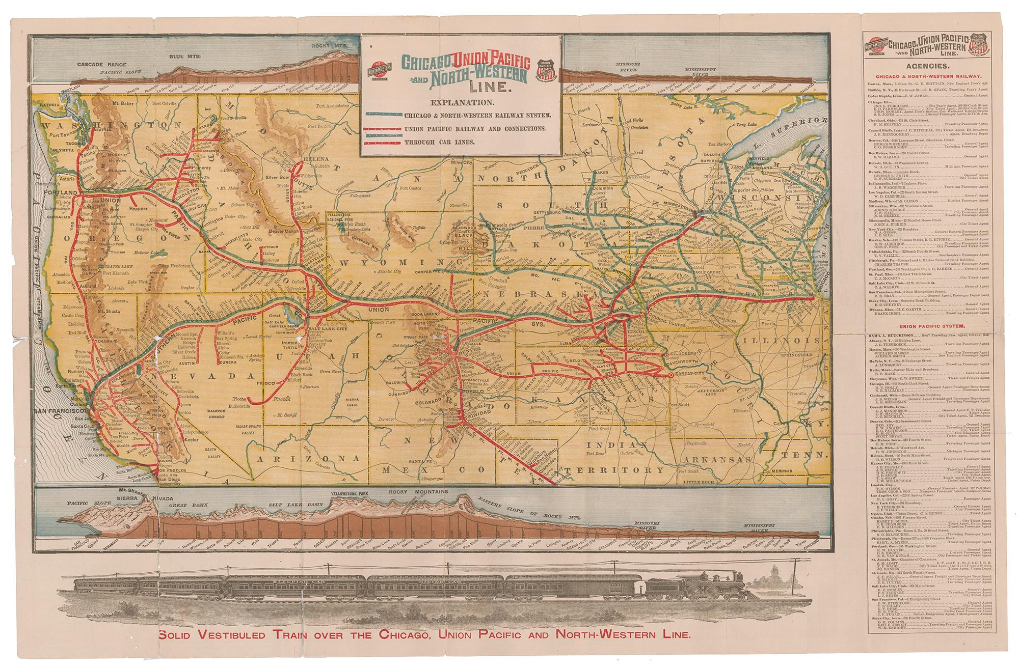Chicago Union Pacific and North Western Line, 1894