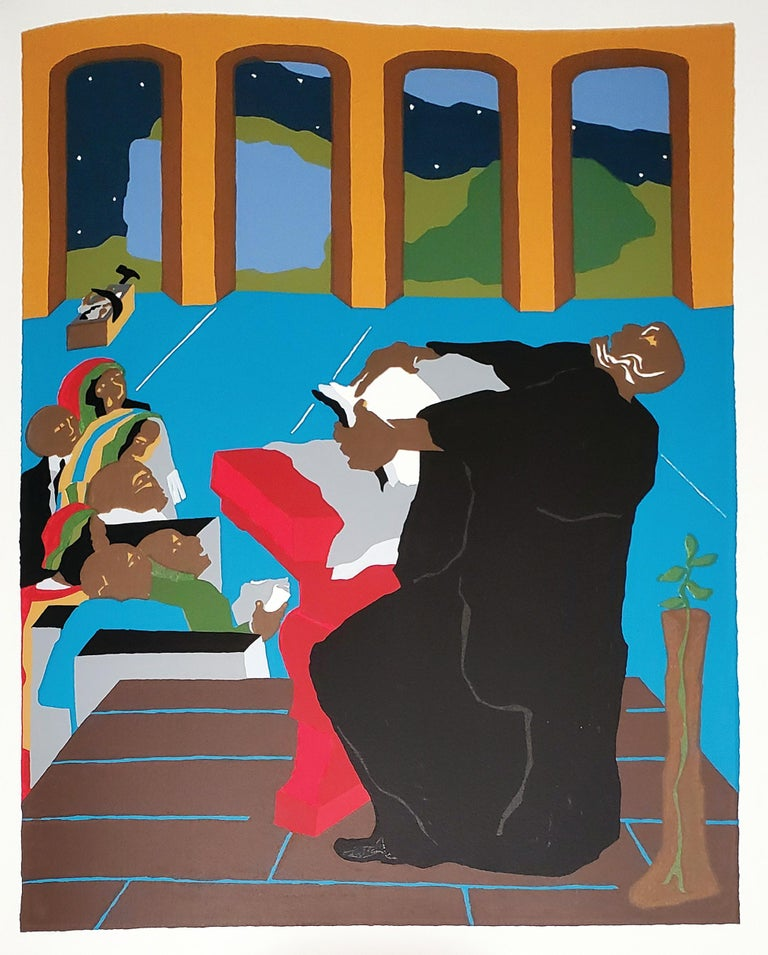 <i>The First Book of Moses, Called Genesis</i>, 1989, illustrated by Jacob Lawrence