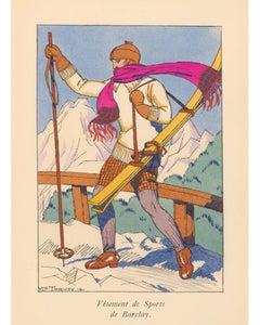 Ski Fashion Lithograph