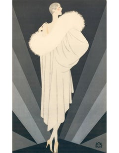 Revillon Freres: Woman in a Draped Fur Coat