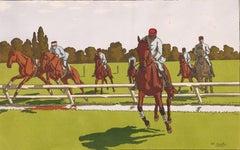 Equestrian Scene No. 10: Horse Jumping