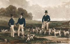 Merry Beaglers: Hunting Lithograph