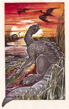 Dinosaur Gouache, 1913