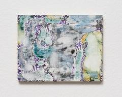 Verdure 2, 2018, Sarah Ann Weber, Watercolor, Color pencil, Panel, Abstract