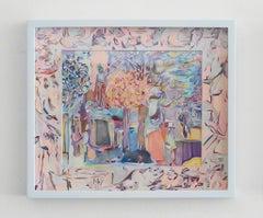 Luxembourg gardens, Sarah Ann Weber, Figurative Abstraction, Artist's Frame