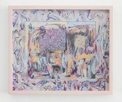 Train to Fontainbleau, Sarah Ann Weber, Figurative Abstraction, Artist's Frame