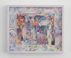 Musee de Cluny, fountain, 2017, Sarah Ann Weber, Figurative Abstraction, Framed