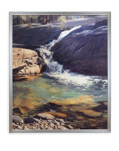 High Mountain Falls (Landscape, Colorado, Oil, Painting, Waterfall, Coors)