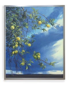Green Apples (Landscape, Colorado, Painting, Oil, Coors)