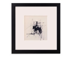 Roping II (Study) (charcoal, cowboy, horse, lasso, western)