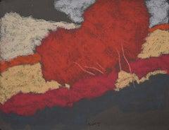 DR-20004 (landscape, abstract, oil pastel, toned paper, vibrant colors)