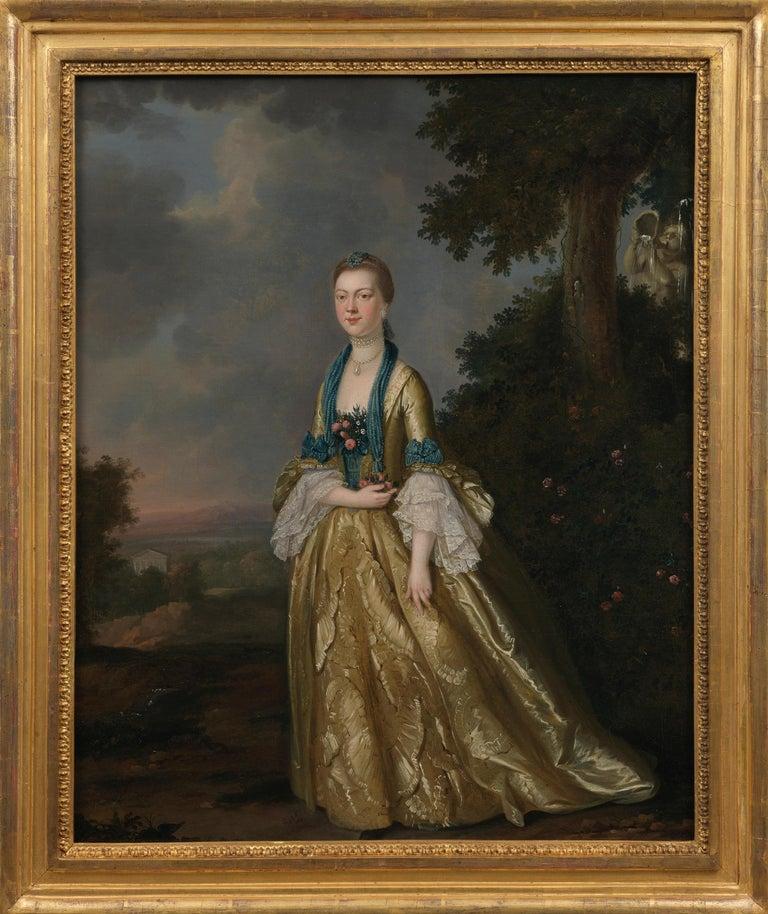 John S. C. Schaak Portrait Painting - Portrait of a Lady in a landscape