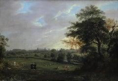 A distant landscape view of Cambridge