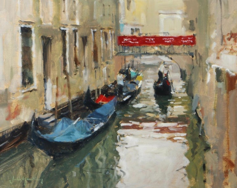 John Yardley Landscape Painting - A Venetian Backwater