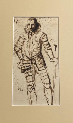 Portrait sketch - study of a gentleman in armour