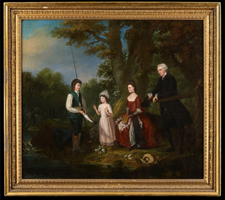 George Carter Figurative Painting - A Portrait of The Adair Family: A Conversation Piece
