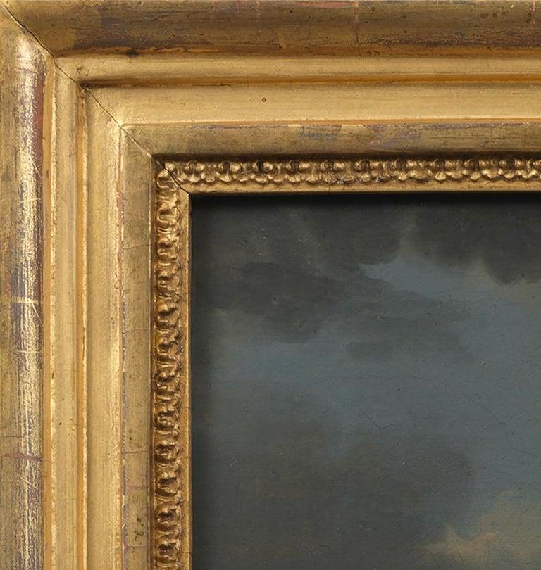Portrait of a Lady in a landscape - Black Portrait Painting by John S. C. Schaak