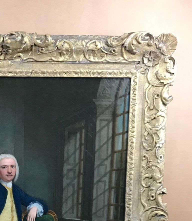 Portrait of a gentleman in an interior For Sale 4