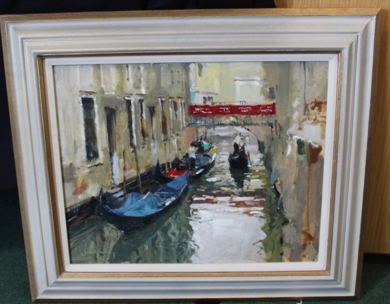 A Venetian Backwater - Painting by John Yardley