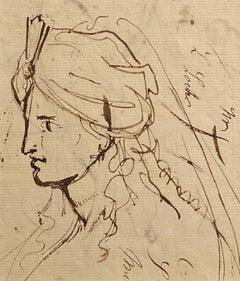 Portrait Sketch - Figurative study of a gentleman in a turban