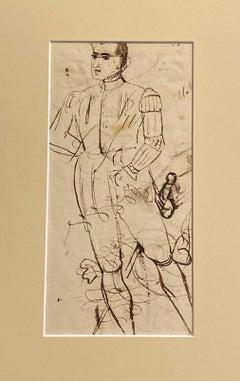 Portrait Sketch - Figurative study of a gentleman in uniform with a sword