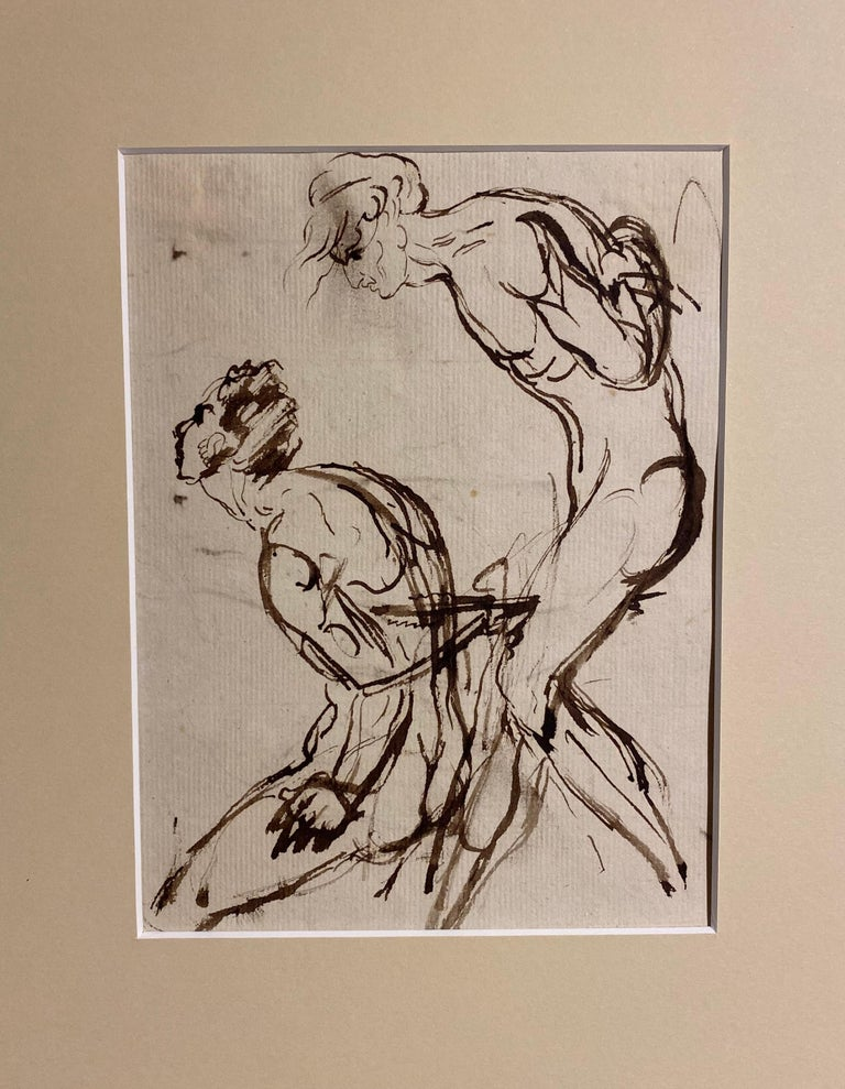 Portrait sketch - figurative studies of a nude male - Art by William Locke the Younger