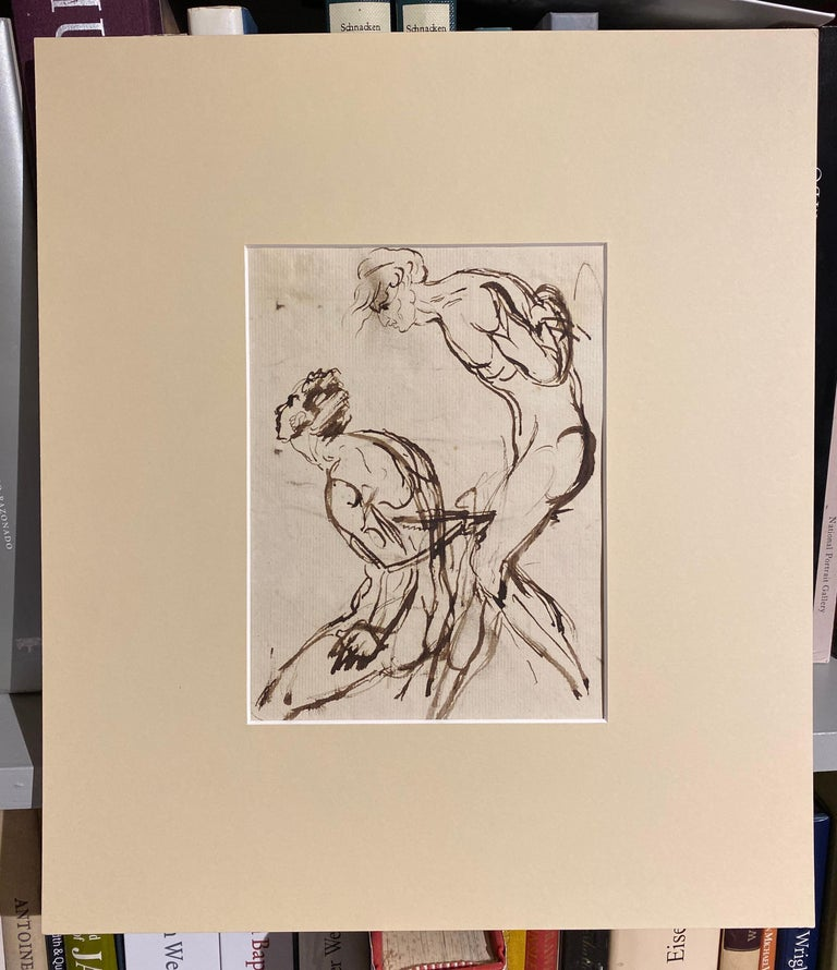 Portrait sketch - figurative studies of a nude male - Old Masters Art by William Locke the Younger