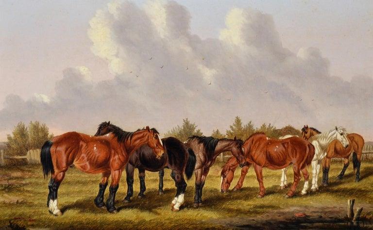 Horses Grazing - Painting by William Henry Marmaduke Turner