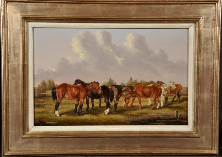 William Henry Marmaduke Turner Animal Painting - Horses Grazing