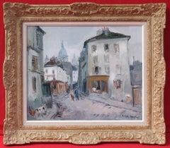 Paris Montmartre Street, Postimpressionist painting