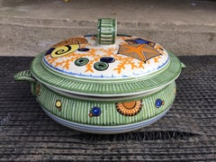 Mathurin Meheut, Soup Tureen Of The Sea Dinner Table, Painted Ceramic