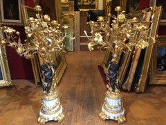 candelabras 19th century in pair