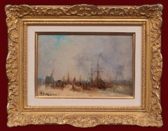 Marine Post Impressionist Painting 19th Century