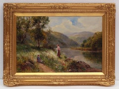 Lively Landscape by the River, Post impressionist Painting