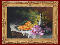 Table Settings With Orchids, Painting 19th Century