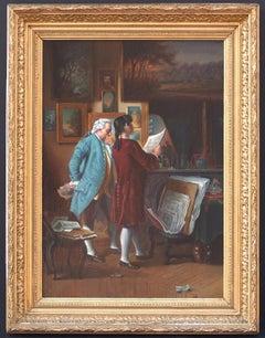 Etching dealer or Artist Workshop in 18th Century from Meissonnier Art Work