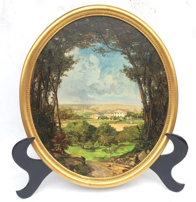 Landscape from French Provence, Painting  19th Century For Sale 2