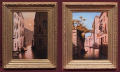 Paintings Early 20th century - Venice views in pair