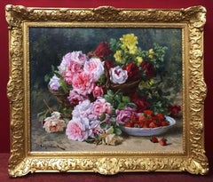 Still Life of Flowers - Original Painting 19th Century
