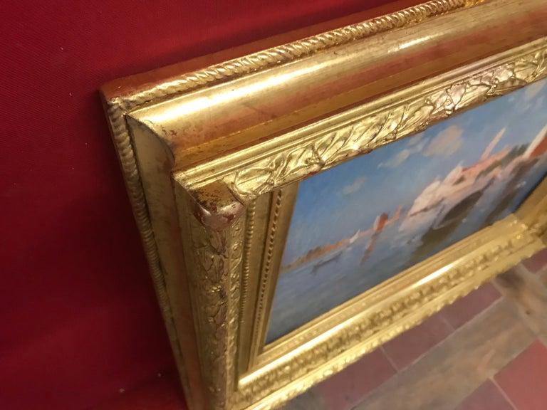 Venice Laguna with Gondola - Painting by ADAM LAURENS Suzanne Adrienne, aka Nanny