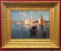 Venice Laguna with Gondola