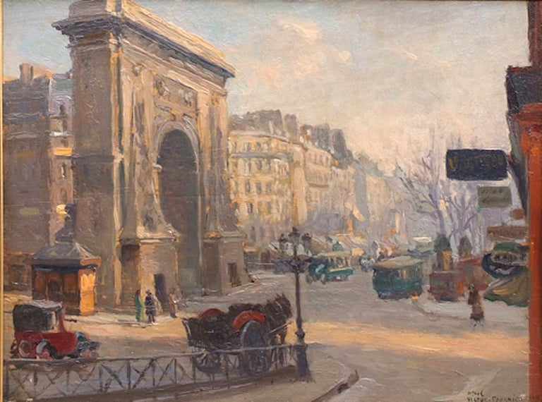 Paris, Boulevard Porte Saint Denis - Academic Painting by Fournier Victor Alfred