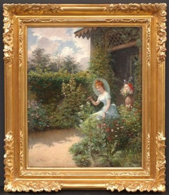Young Lady With Parasol in The garden