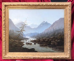 Landscape By The Mountain Stream