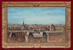 View of Paris Above The Rooftops - Original Painting