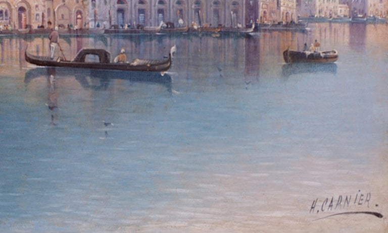 View of Venice - Painting 19th Century - Brown Landscape Painting by KAUFMANN Karl