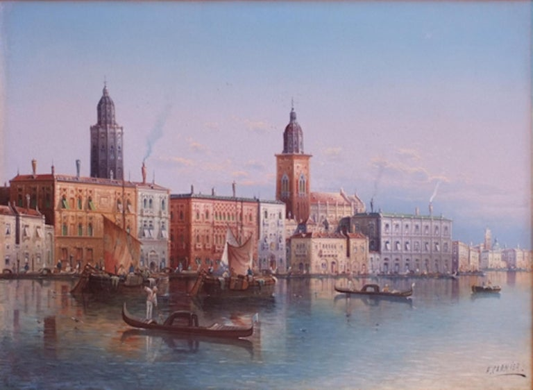 View of Venice - Painting 19th Century For Sale 1