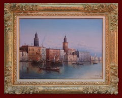 View of Venice - Painting 19th Century